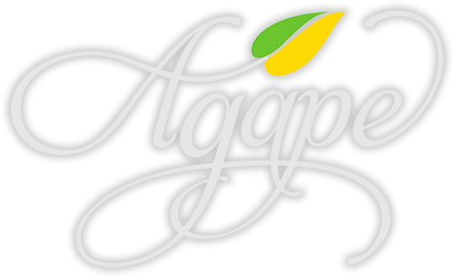 agape logo biele